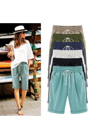 Plus Size pockets Casual Shorts