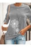 Long Sleeve Casual Shift Plant Shirts & Tops