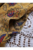 Bohemian Sleeveless Print Layers Baggy Pocket Plus Size Dress