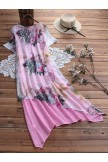 Casual Loose Patchwork Dress