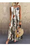 Elegant Sleeveless Printed Dress