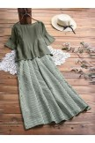 Women's Plaid Print Two Piece Dress